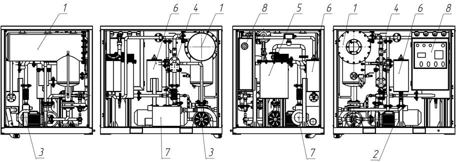 Oil degassing plant components map