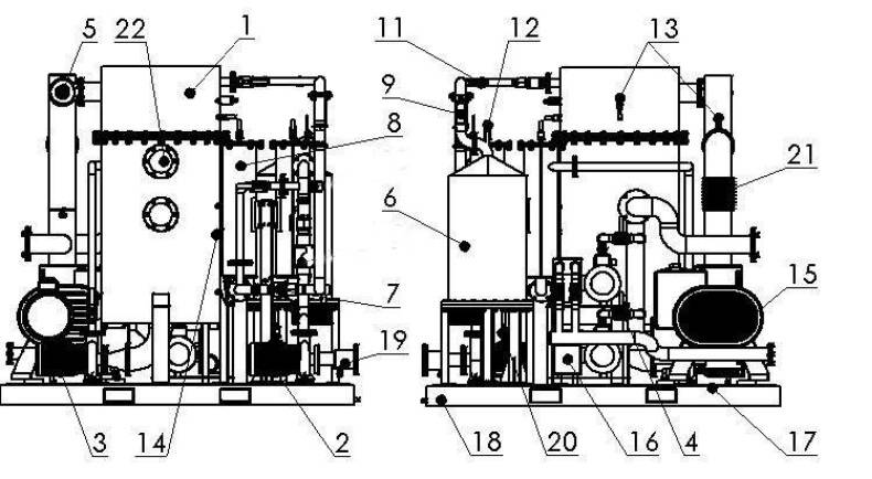 The scheme of High Vacuum Degassing Unit