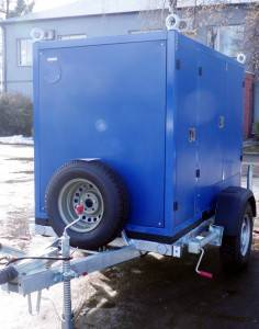 the trailer with oil degassing unit