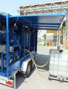mobile oil purification plant