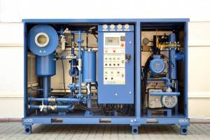 transformer vacuumizing machine + dielectric oil purifier