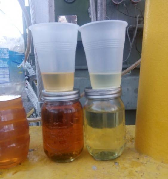Transformer oil purification samples
